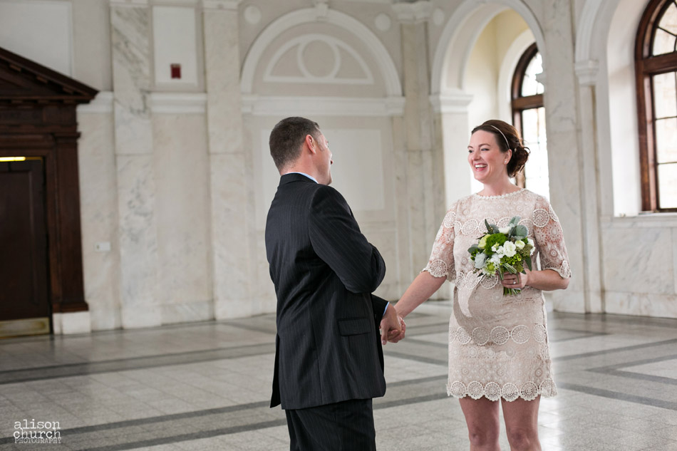 Theresa michael old decatur courthouse elopement for Wedding dresses for courthouse wedding